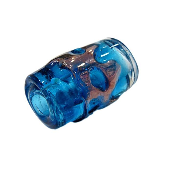 Firma de murano GG cobre\ azul turquesa transparente- FM187