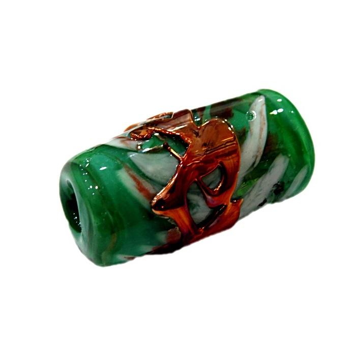 Firma de murano GG cobre\ verde leitoso- FM192