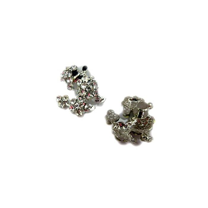 Piercing Poodle níquel (Par)- PIN036