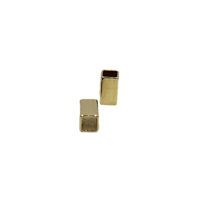Entremeio Dourado Mini retangulo ED020-50 peças