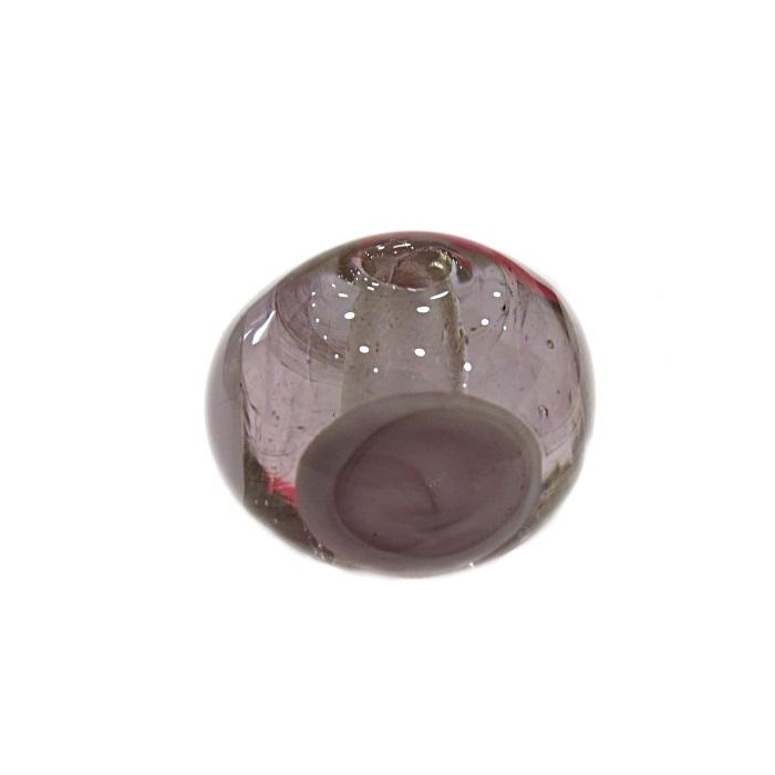 Bola de murano G rosa c\ circulos- MUD010