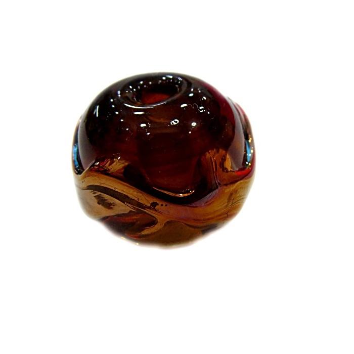 Bola de murano G ambar c/ cobre- MUD025