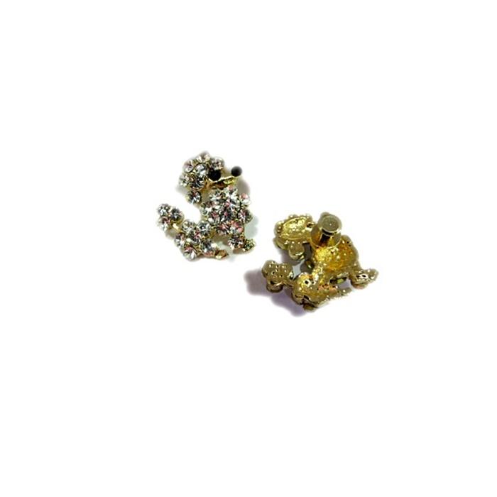 Piercing  Poodle dourado (Par)- PID056