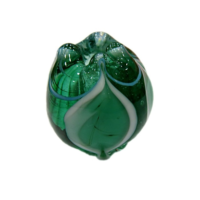 Puxado de murano verde/ branca- MU359