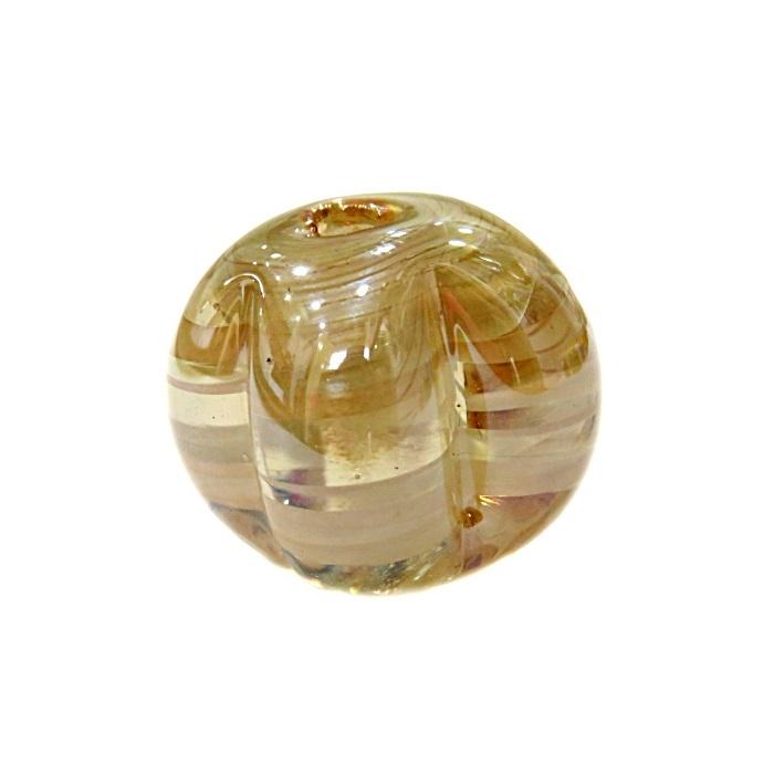 Pitanga de murano GG cristal/ branco irisado- MU375