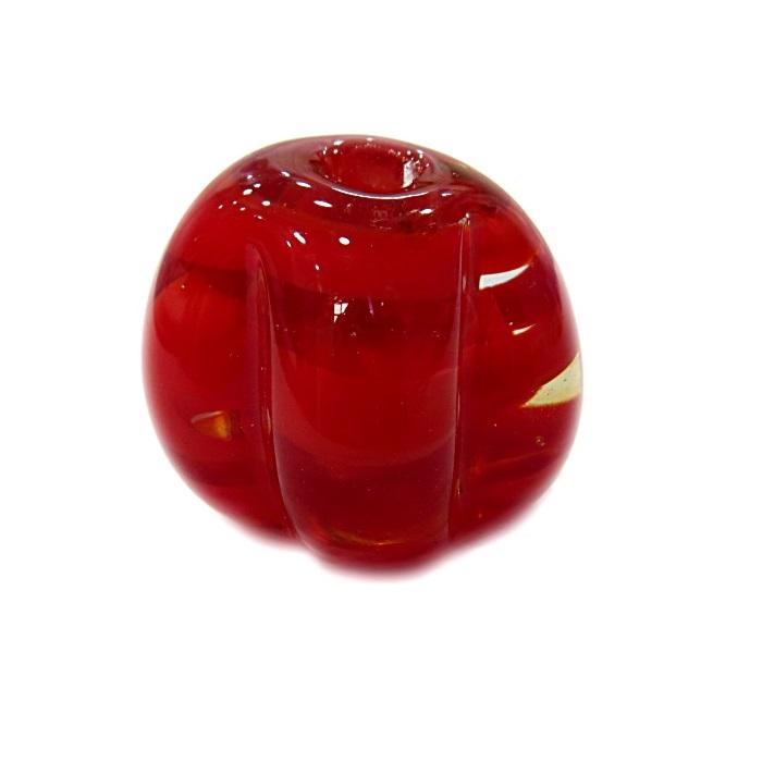 Pitanga de murano GG vermelho cristal- MU390
