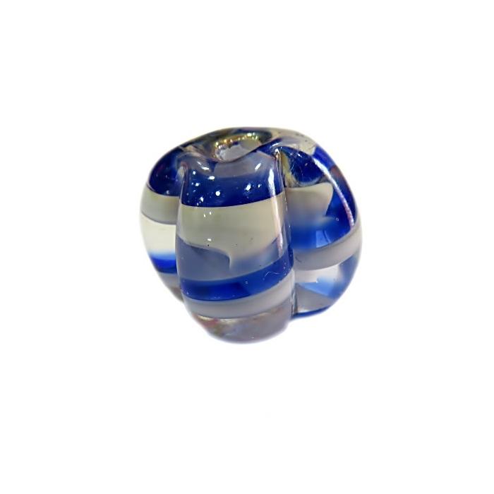 Pitanga de murano G azulão/ branco irisado- MU402