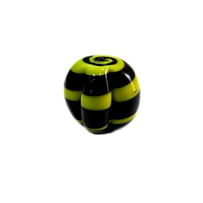 Pitanga de murano G preto/ amarelo- MU414