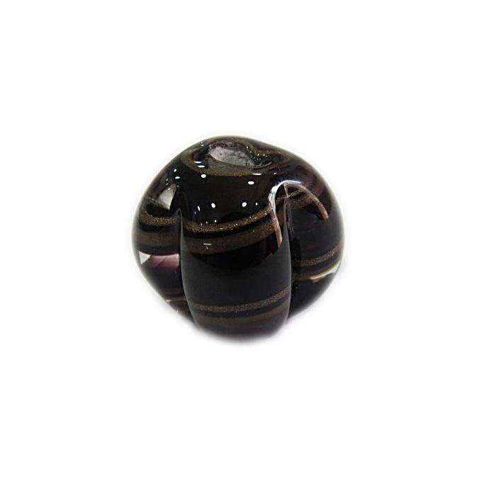 Pitanga de murano G preto/ marrom- MU417