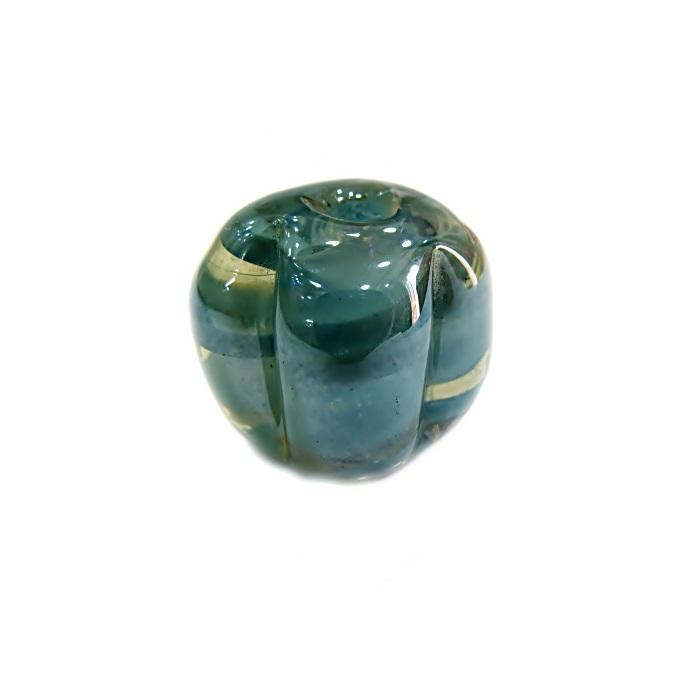 Pitanga de murano G azul turquesa irisado- MU423