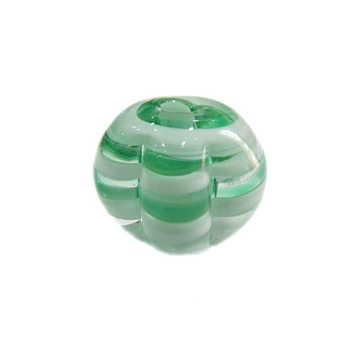 Pitanga de murano G verde/ branco- MU425