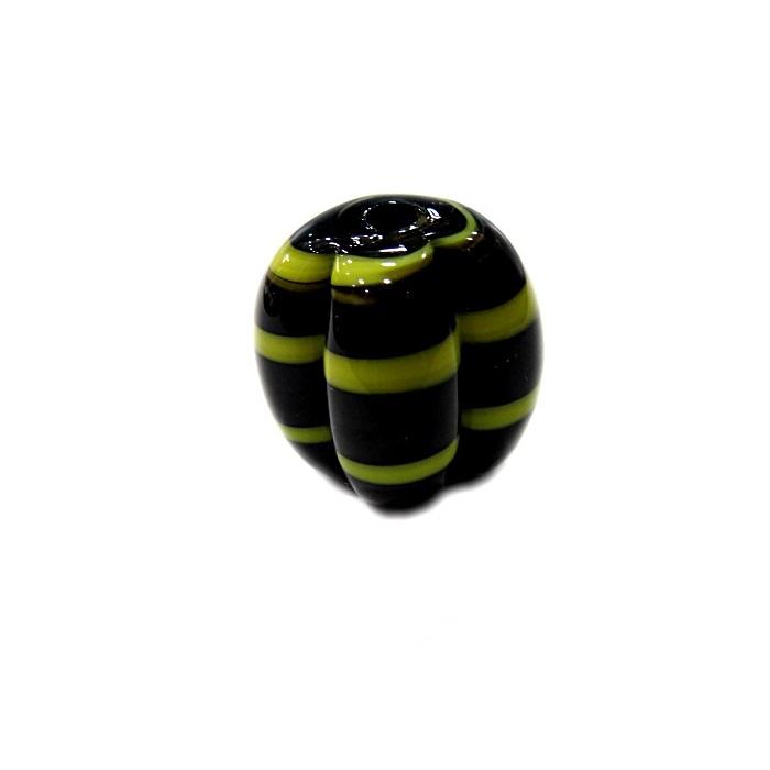 Pitanga de murano G preto/ amarelo- MU451