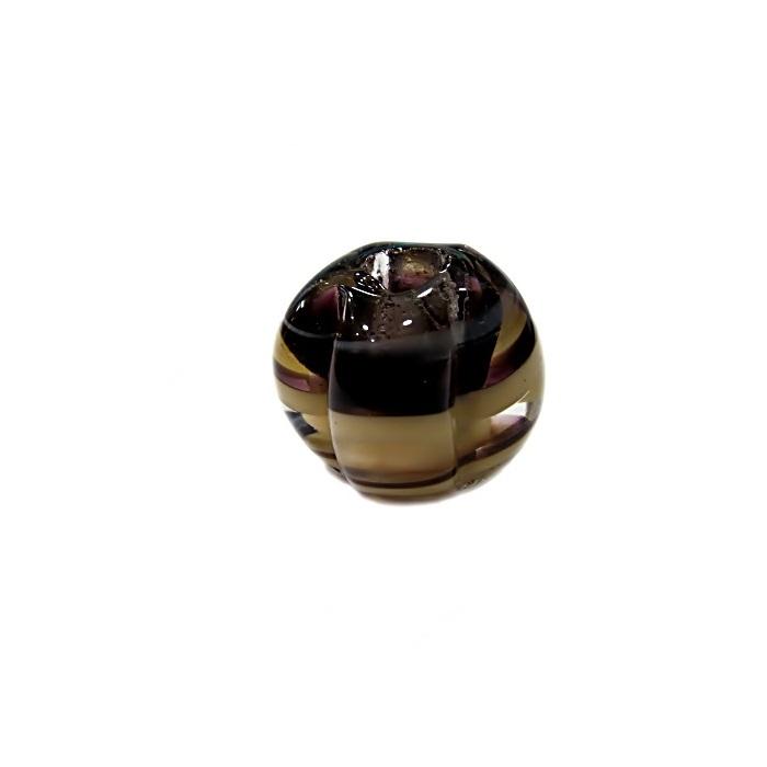 Pitanga de murano G preto/ bege- MU452
