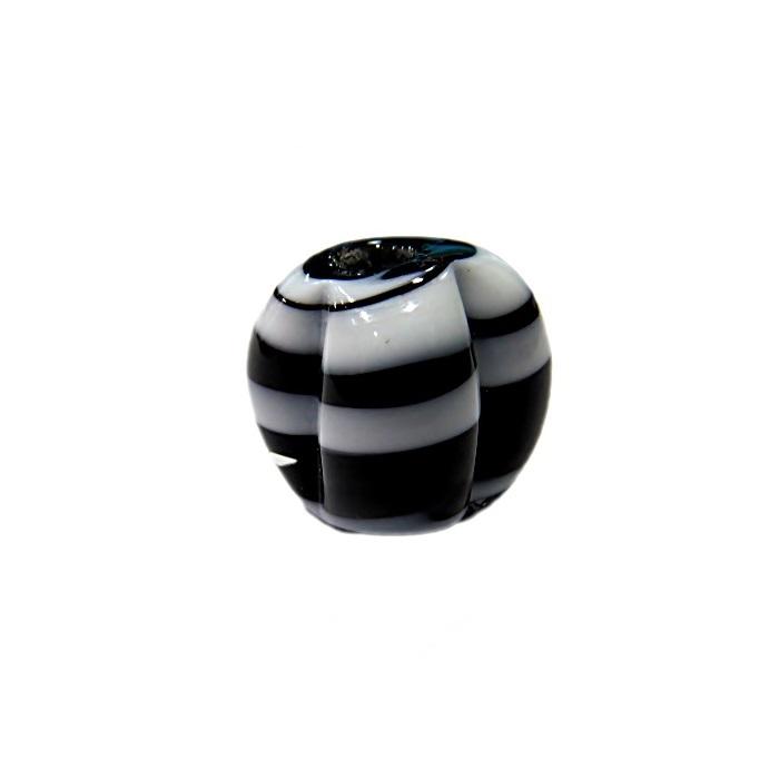 Pitanga de murano G preto/ braco- MU453