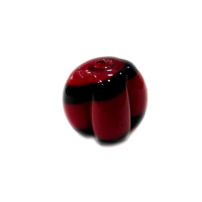 Pitanga de murano G vermelho/ preto- MU454