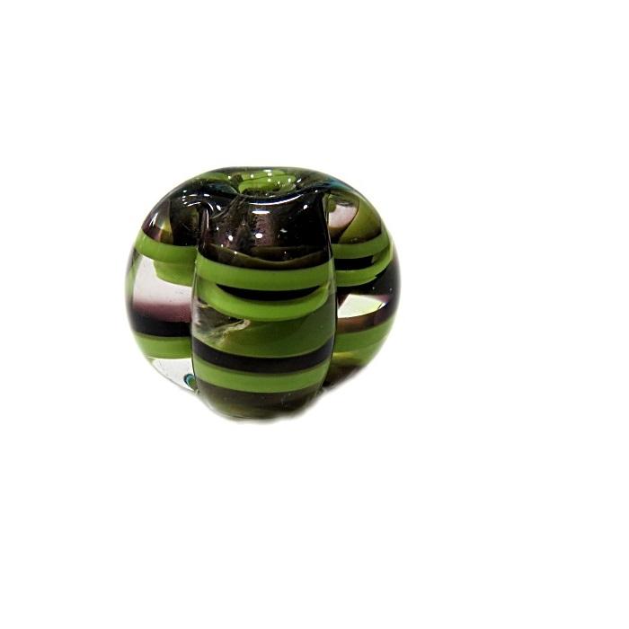 Pitanga de murano M preto/verde pistache- MU455