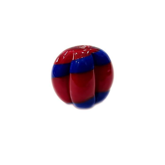 Pitanga de murano G vermelho/ azul royal- MU460