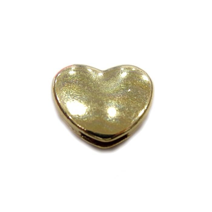 Entremeio Dourado Coração Passante Lado ED030