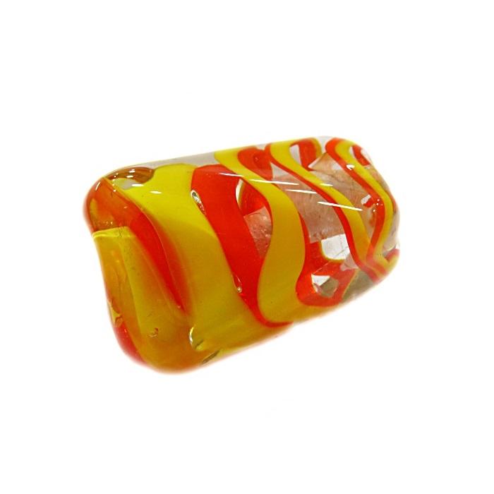 Facetado de murano GG amarelo/ laranja- MU482