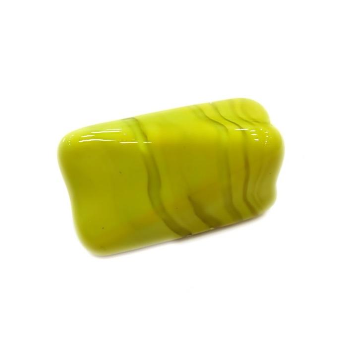 Facetado de murano GG amarelo leitoso- MU483