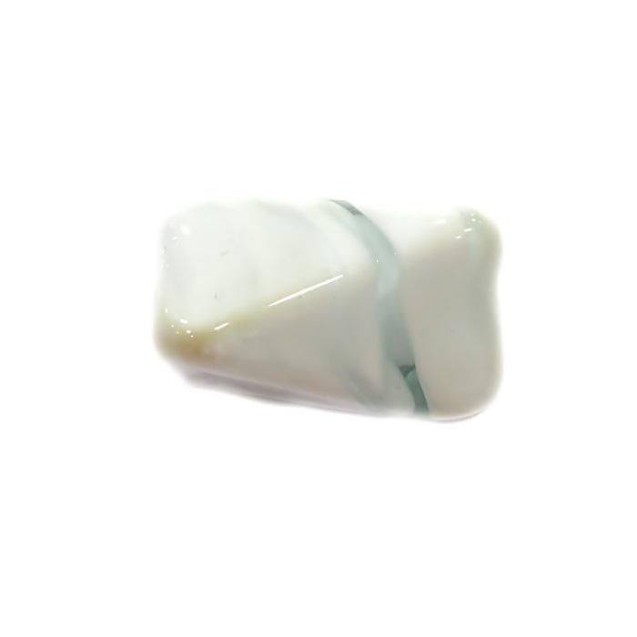 Facetado de murano GG branco leitoso- MU498