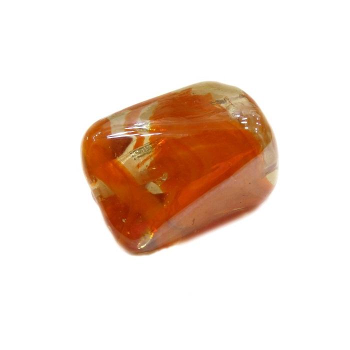 Facetado de murano GG laranja irisado- MU504