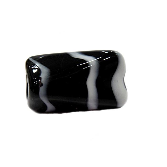 Facetado de murano GG preto/ branco- MU510