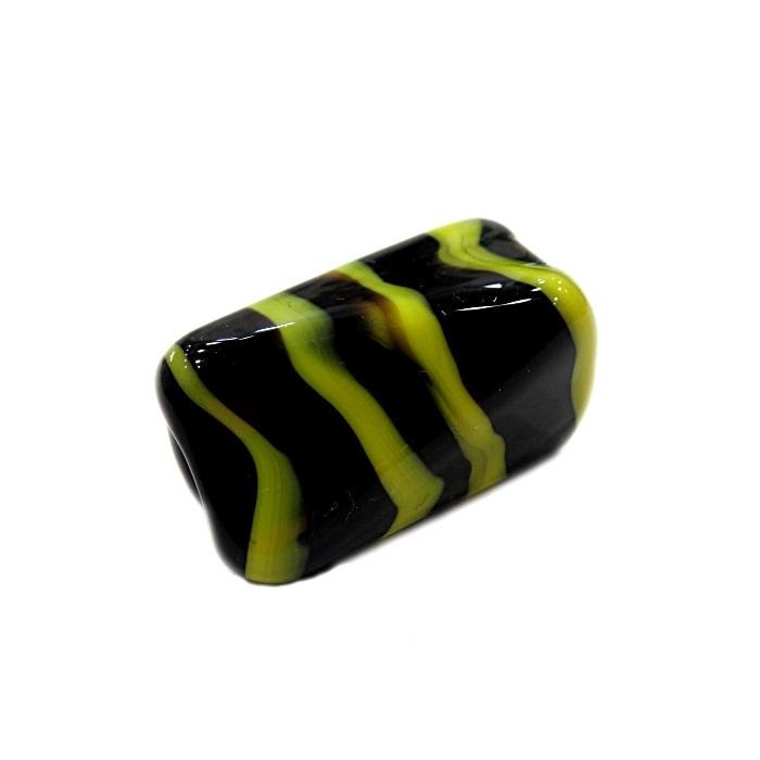 Facetado de murano GG preto/ amarelo- MU512