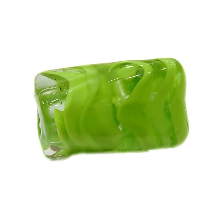 Facetado de murano GG verde pistache- MU521