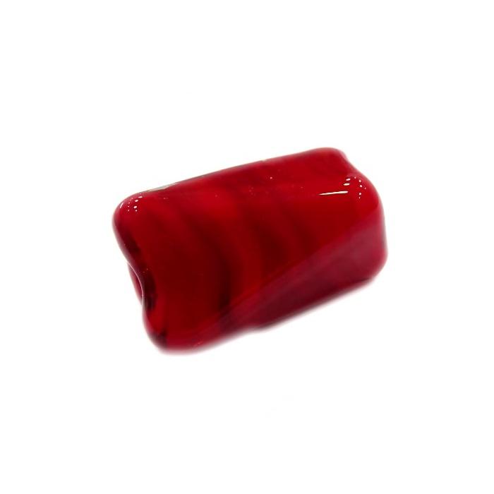 Facetado de murano GG vermelho leitoso- MU526