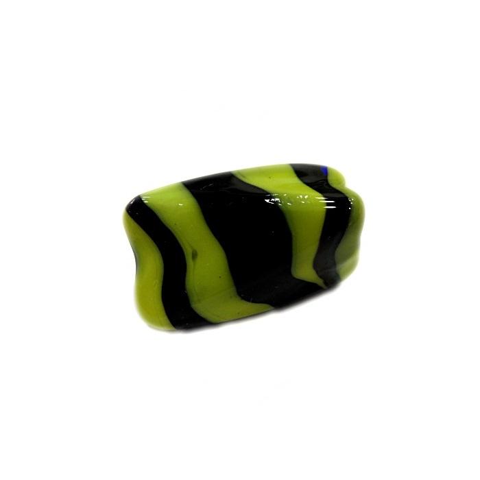 Facetado de murano G amarelo/ preto-MU529