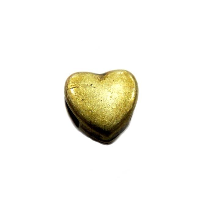 Entremeio Dourado Coração MIni Passante ED031