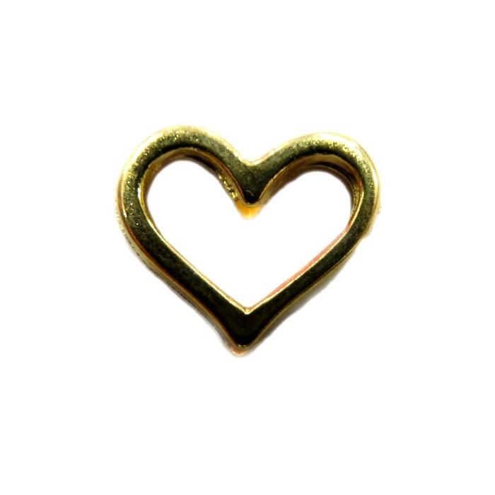 Entremeio Coração Dourado Vazado ED032