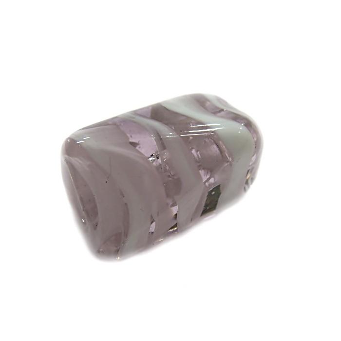 Facetado de murano G rosa/ branco- MU555