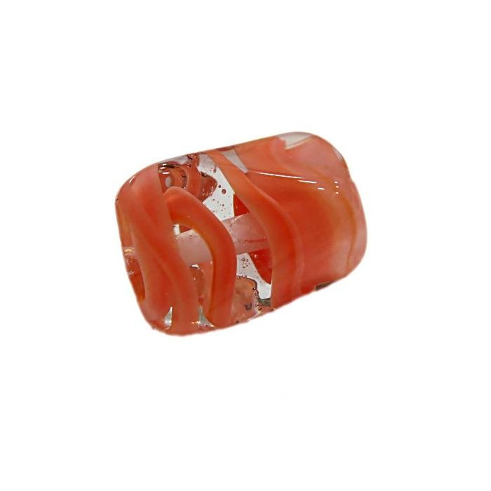 Facetado de murano G salmão-MU558