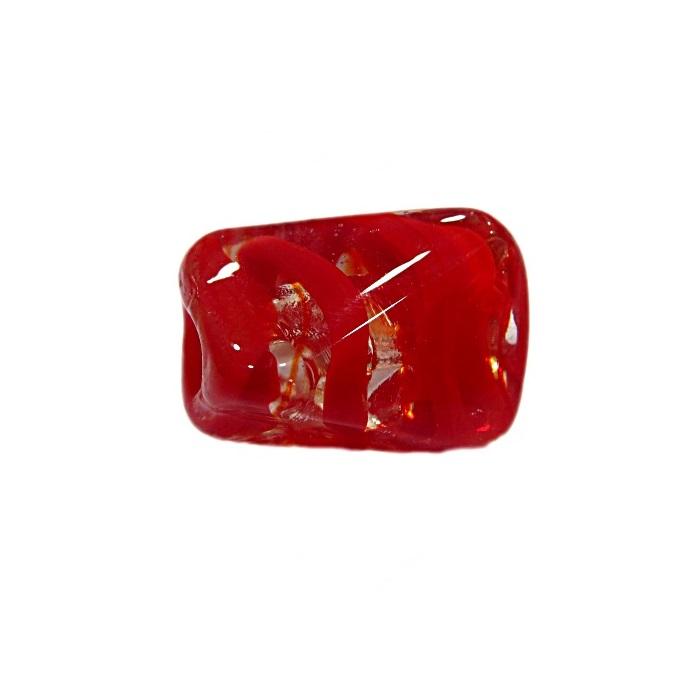 Facetado de murano G vermelho- MU562