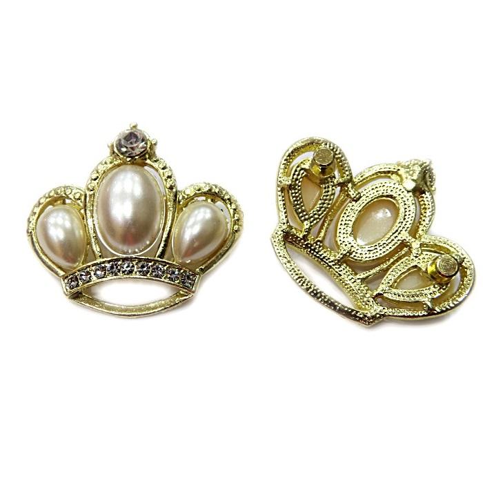 Piercing Dourado Coroa Perola Grande PIN068