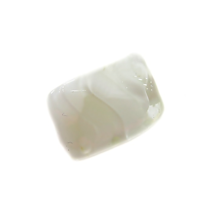 Facetado de murano M branco- MU567