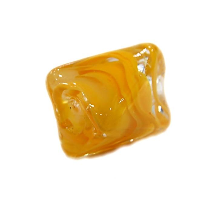 Facetado de murano M amarelo gema- MU571