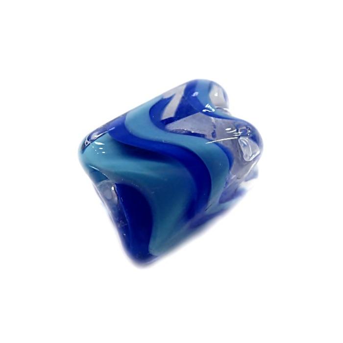 Facetado de murano M azul royal/ azul turquesa- MU577