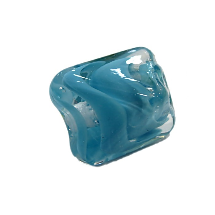 Facetado de murano M azul turquesa- MU580