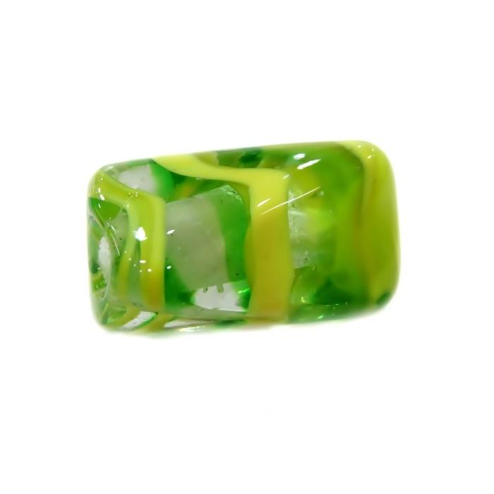 Facetado de murano M verde/ amarelo- MU581