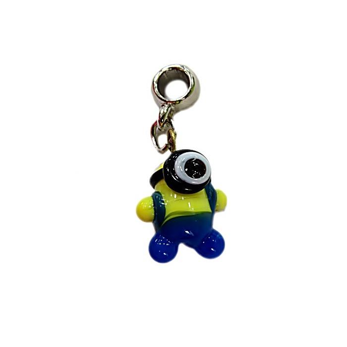 Berloque níquel pingente Minion de murano 1 olho - BEN192