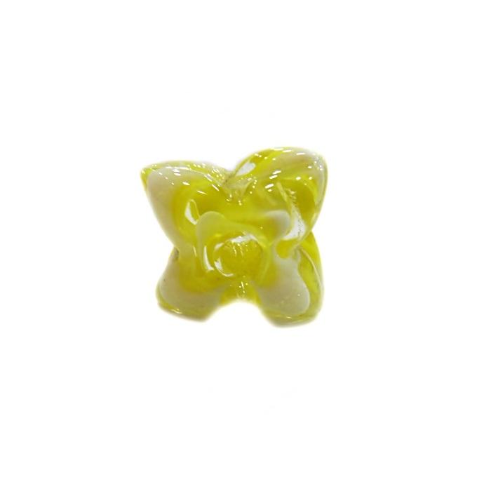 Estrela de murano amarela- MU593