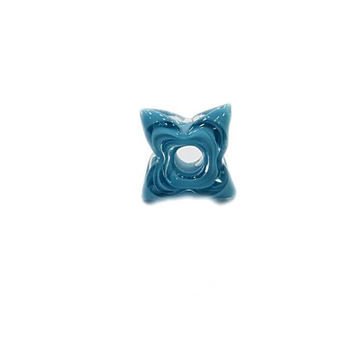 Estrela de murano azul turquesa- MU595