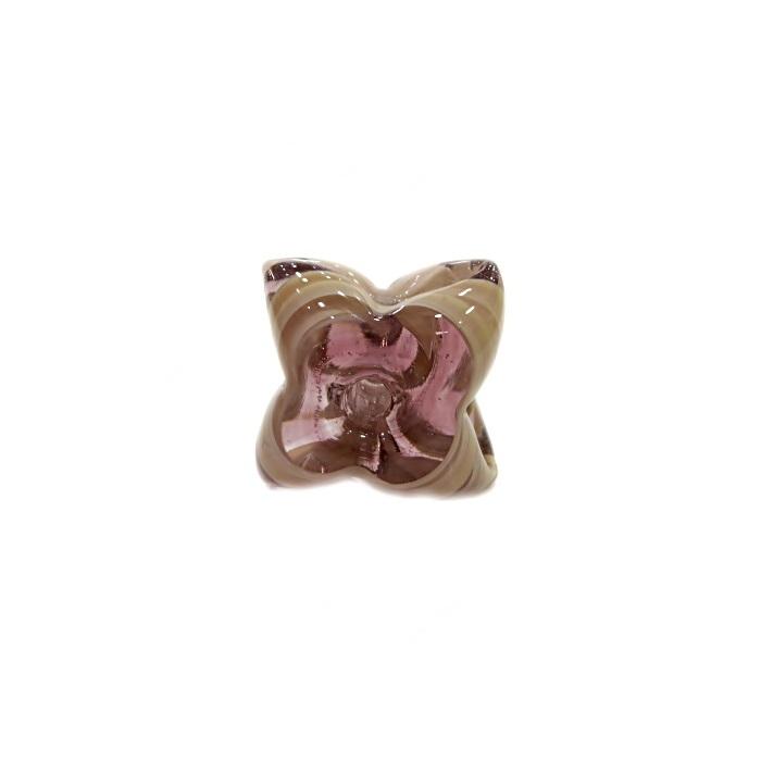 Estrela de murano lilás/ creme- MU598