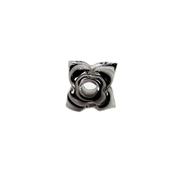 Estrela de murano preto/ branco - MU600