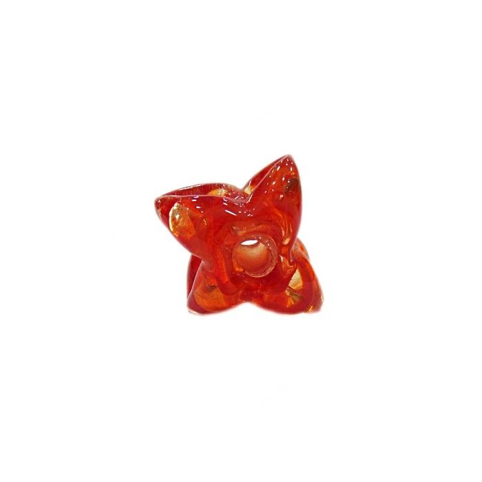 Estrela de murano vermelho- MU604