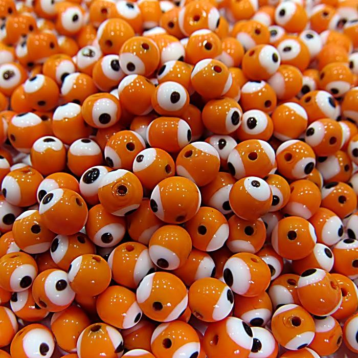 Olho grego laranja Nº 06 (20 unidades)- OG003