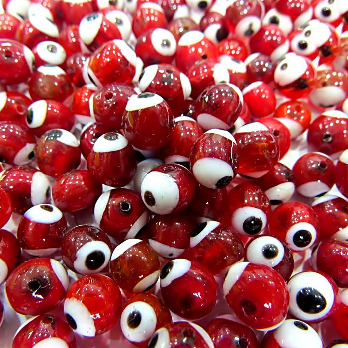 Olho grego vermelho Nº 06 (1.000 unidades)- OG007 ATACADO